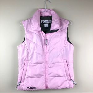 Columbia Women's Small Pink Puffer Vest